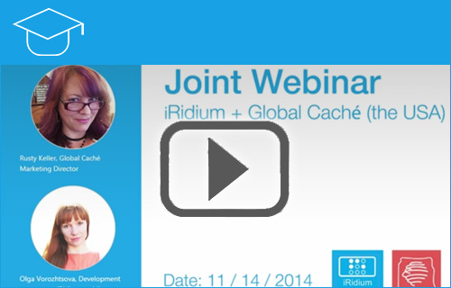 Joint Webinar iRidium Global Caché the USA